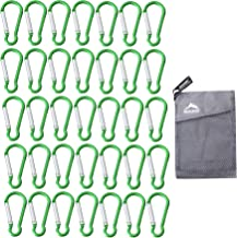 """Carabiner Keychain With Led light 1287LFL it is 4/"""" long green color"""