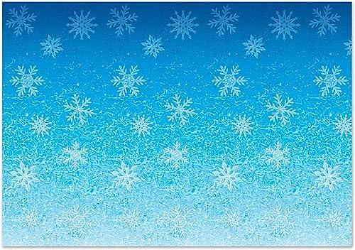 diseño simple y generoso Beistle 20207copos de nieve fondo, 4 x x x 30, Color azul blanco  deportes calientes