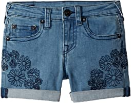 Bobby Embroidered in Daisy Blue (Big Kids)