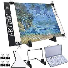 پد نور A4 LED برای نقاشی الماس ، کیت صفحه لامپ USB ، روشنایی قابل تنظیم با پایه و کلیپ قابل جدا شدن