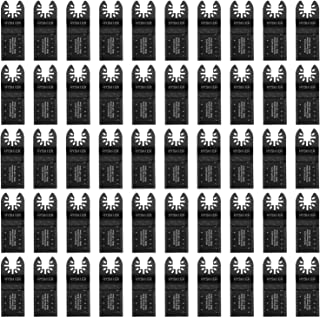 50 Pcs Oscillating Tool Blades, Professional Universal Oscillating Saw Blades, Metal Wood Multitool Blades, Quick Release Durable Oscillating Tool, Multi Tool Blades Fit All Models