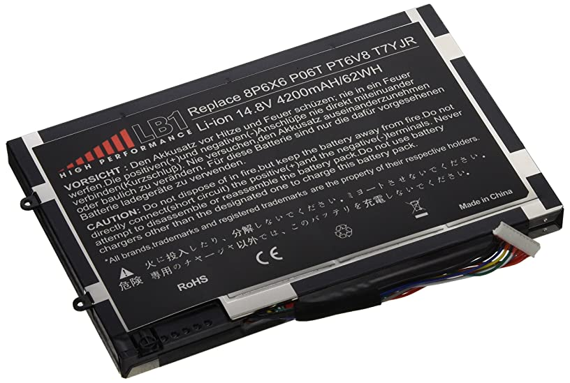 LB1 High Performance Battery for Dell Alienware M11x, M11x R1, M11x R2, M11x R3 Fits 8P6X6, P06T, PT6V8, T7YJR