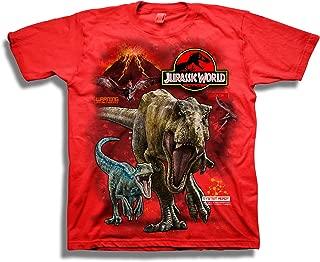 Boys 2 T-rex & Raptor Short Sleeve T-Shirt
