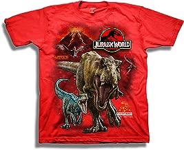 Jurassic World Boys 2 T-rex & Raptor Short Sleeve T-Shirt
