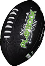 Franklin Sports Youth Football - Playbook Junior Size Football with Route Diagrams - Small Rubber Football, Perfect for Kids