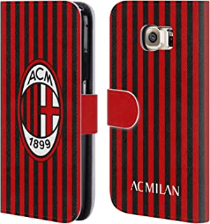c5cbc8f543 Head Case Designs Ufficiale AC Milan Home 2019/20 Kit Crest Cover in Pelle a