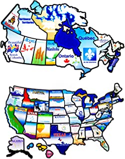 Go Get It RV Sticker Map of United States Bundle with RV Sticker Map of Canada | North America RV Travel Map