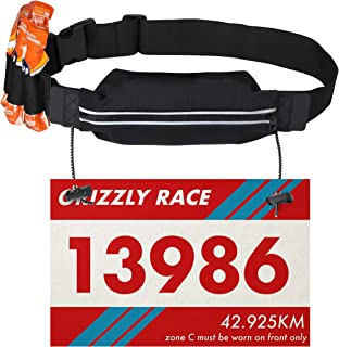 Fitness Favor: Running Race Number Bib Belt with Elastic Webbing - Fits for Marathon, Triathlon and Cycling