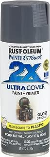 Rust-Oleum 249115-6 PK Painter's Touch 2X Ultra Cover, 12 oz, Dark Gray