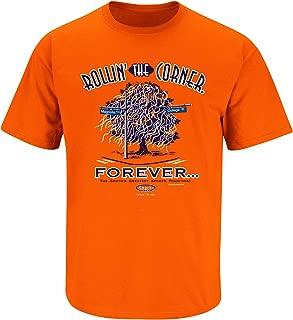 Smack Apparel Auburn Football Fans. Rollin The Corner Orange T Shirt (Sm-5X)