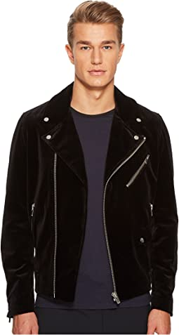 Zip-Up Velvet Jacket