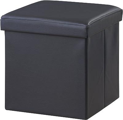 AZUMAYA ボックススツール 正方形 LFS-811BK