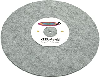 DB Phonics Turntable Stereo Phonograph Platter Slip Mat Anti Static Vinyl Record Player Vibration Dampening Felt Gray 295m...