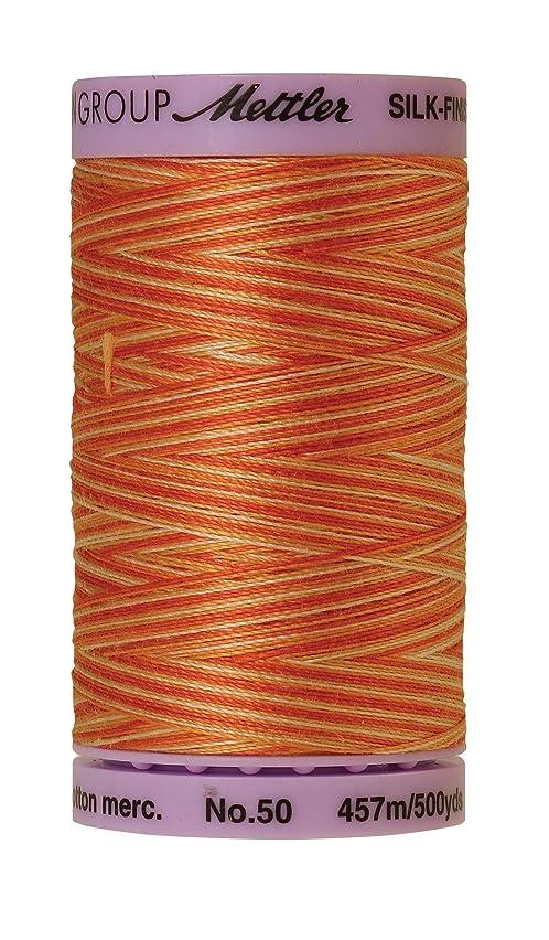 Mettler Silk-Finish Variegated Cotton Thread, 500 yd/475m, Rust Ombre