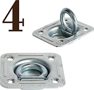 DC Cargo Mall D Ring Tie-Down Anchors (Large Square), Recessed Pan Fitting DRings Heavy Duty Steel Cargo Tie Downs, Truck/Trailer/Flatbed/Pickup TieDown Anchor