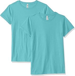 AquaGuard Womens AQU-LA3516-2PK Fine Jersey Longer Length T-Shirt - 2 Pack Short Sleeve T-Shirt - Blue - XXX-Large
