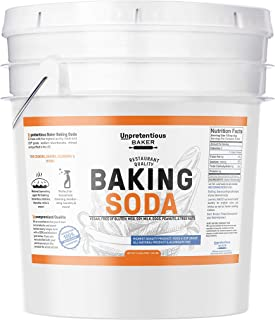 Baking Soda (Sodium Bicarbonate) (5 gallon) by Unpretentious Baker, Resealable Bucket, Restaurant Quality, Highest Purity, Food & USP Pharmaceutical Grade