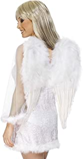 (1, multicoloured) - Smiffy's 50 x 60cm Wings Feather Angel (White)