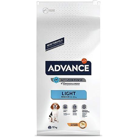 ADVANCE Light Adult Medium - Pienso Light Para Perros Adultos De Razas Medianas Con Pollo - 12 kg
