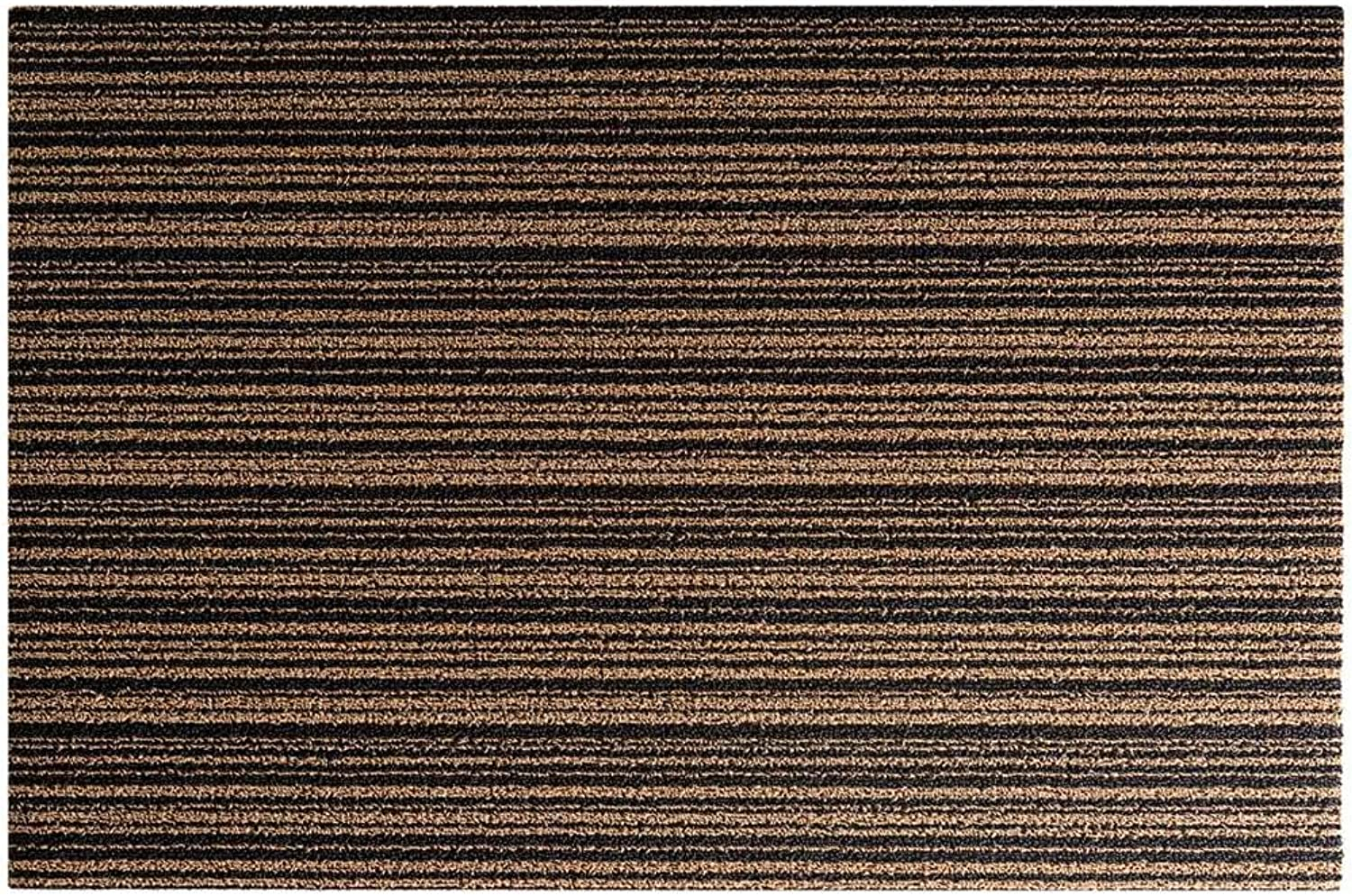 Indoor Outdoor Doormat, Easy to Clean PVC Non-Slip Backing Absorbing Mud Dust Pad Suitable for Entrances, Terraces, Stairs and Garages -Coffee color-60x120Cm(24x47Inch)