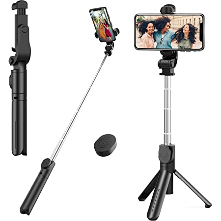 N//H Selfie Sticks Tripods Wireless Bluetooth Remote /& Fill Light Mini Portable Extendable Cell Phone Stand for iPhone Samsung Galaxy Android