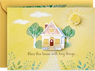 Hallmark Paper Wonder Paper Craft Baby Shower Card (Tiny Things)