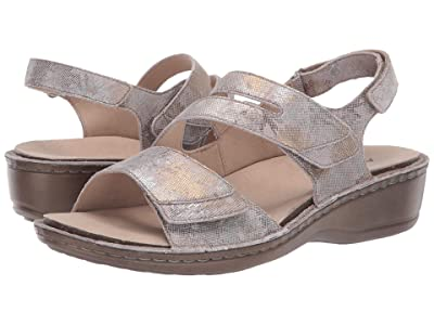 Aravon Cambridge Three Strap (Silver Floral) Women