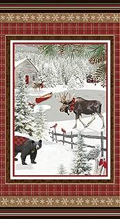 moose flannel fabric