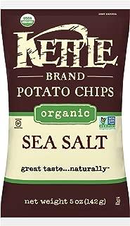 Kettle Brand Potato Chips, Organic Sea Salt, 5 Ounce Bags (Pack of 15)