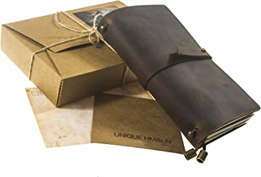 UNIQUE HM&LN Leather Planner Organizer - Academic Monthly Calendar &Weekly & Daily Journal to Achieve Goals Impro
