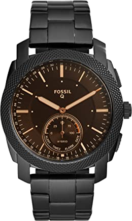 Fossil Q Men's Machine Stainless Steel Hybrid Smartwatch, Color: Black (Model: FTW1165)