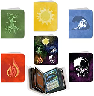 Totem World 6 Mini Binder Collector Album for Magic The Gathering - Each Holds 60 MTG Cards - Top Load Sleeves - Protect Your Deck in Style - Inspired Mana by Plains, Island, Swamp, Mountain, Forest