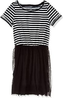 ONLY A-line dress for women in Black & White, Medium