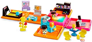 My Mini Mixieqs DWB70 - Neon Arcade Playset - Includes 3 Figures 1 is a Mystery Figure
