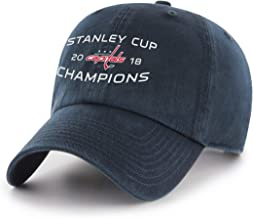 NHL Men's Washington Capitals 2018 Stanley Cup Champions OTS Challenger Adjustable Hat, One Size, Navy