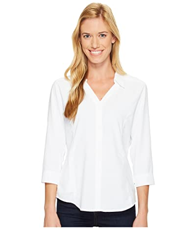Royal Robbins Expedition Chill Stretch 3/4 Sleeve Top (White) Women