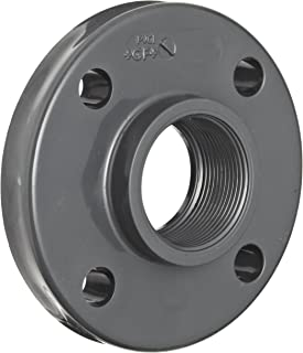 GF Piping Systems PVC Pipe Fitting, Flange, Schedule 80, Gray, 1