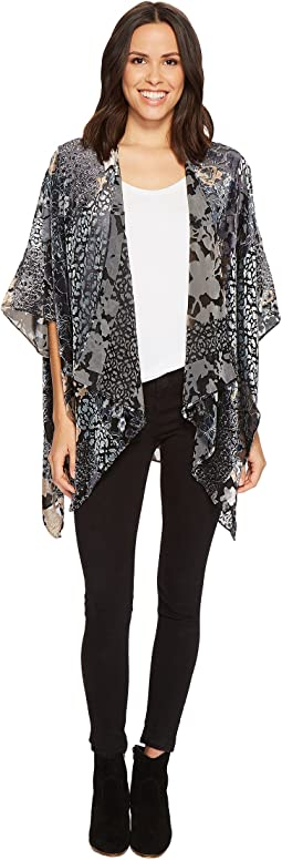 Collection XIIX - Printed Velvet Burnout Kimono