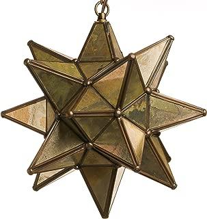 Glass Star Pendant Lights (15 Inch, Mirror)