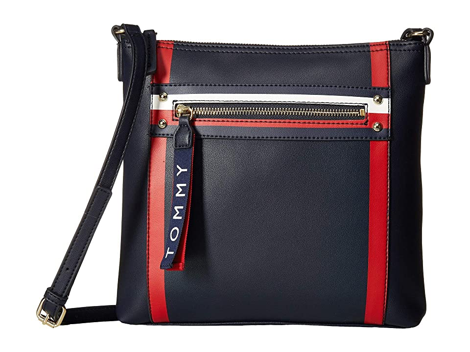 Tommy Hilfiger Hayden Large North/South Crossbody (Tommy Navy) Cross Body Handbags