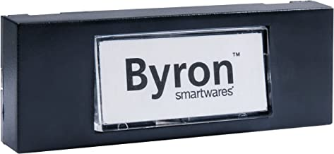 Byron 10.007.97 (7740) Wired Surface Mounted Bell Push Button, Black