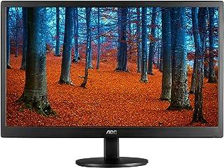 """AOC E970SWN Monitor LED de 18.5"""", Resolución 1366x768, Brillo 200CD/M2, Soporte VESA, Conexión VGA, Negro"""