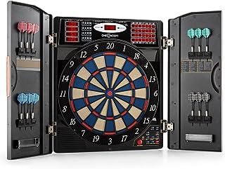 Oneconcept Masterdarter Diana electrónica de Dardos con Punta Suave (Puertas de imitación de matal, computadora integrada, Diferentes Juegos)