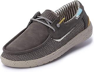 Hey Dude Welsh Grip - Zapatos de Barco de los Hombres - Ligeros y cómodos - Plantilla ergonómica de Espuma viscoelástica -...