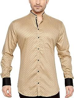 Global Rang Men's Cotton Polka Printed Casual Shirt