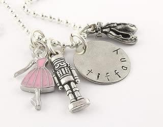 Ballet Nutcracker Silver Charm Necklace - Personalized Custom Jewelry Gift for Ballerina - Dance Nut Cracker - Dancer