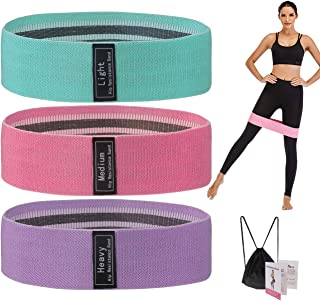 Ypser Resistance Bands Stretch Bands Exercise Workout Home Fitness Equipment for Butt & Legs, Strength Training, Yoga, Str...