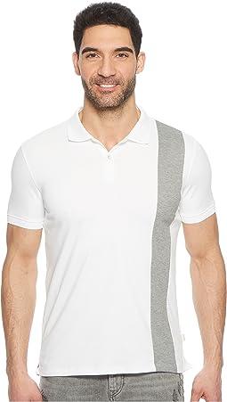 Calvin Klein - Color Blocked Stripe Knit Polo