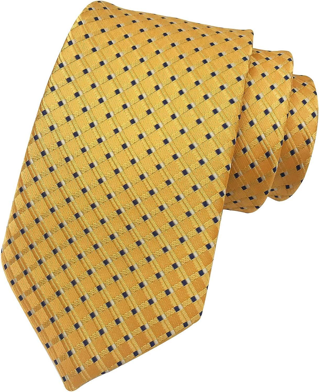 Secdtie Men Classic Nippon regular agency Stripe Virginia Beach Mall Geometry Jacquard Woven Microfibe Tie