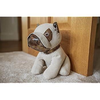 Animal Pug Dog Door Stopper Novelty Wedge Home /& Office Fabric Doorstop Weighted